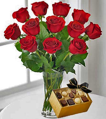 flowers by shirley red flowers a dozen red roses with chocolates