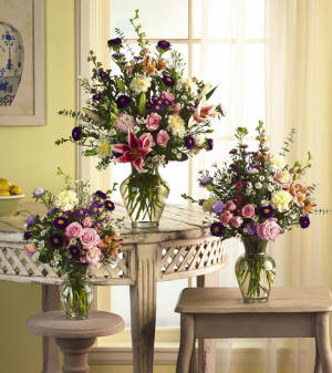 Floral arrangements by their very nature can be made in several sizes.